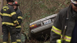 Firefighters cut roof off car to rescue man - (8/9)