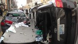 2 hurt in downtown Seattle crash - (1/3)