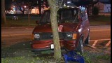 Driver flees after hitting tree in stolen van - (10/10)