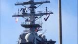 USS Nimitz departs Everett naval station - (3/6)