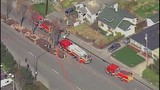 Chopper 7 over Everett house explosion - (16/21)