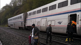 Amtrak train derails near Everett - (3/5)