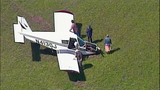 Small plane crash lands in cow pasture - (8/10)