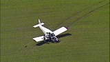 Small plane crash lands in cow pasture - (7/10)