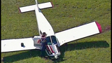 Small plane crash lands in cow pasture - (6/10)