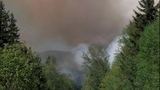 Dog Mountain Wildfire near Riffe Lake - (3/5)