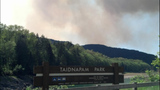 Dog Mountain Wildfire near Riffe Lake - (4/5)