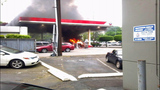 Car catches fire after crash into gas pump - (9/13)