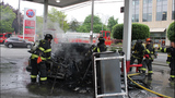Car catches fire after crash into gas pump - (12/13)