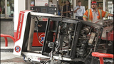 Car catches fire after crash into gas pump - (3/13)