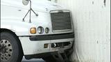 Semi flips, leaks diesel in crash - (8/9)