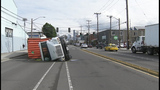 Semi overturns in SoDo - (4/8)