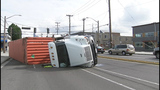 Semi overturns in SoDo - (5/8)