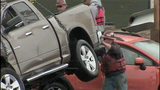 Vehicles, bridge debris pulled from Skagit River - (2/25)