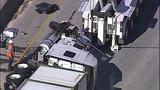Semi overturns, blocks I-405 lanes in Renton - (10/16)