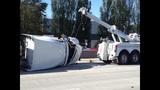 Semi overturns, blocks I-405 lanes in Renton - (9/16)