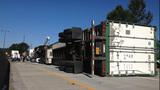 Semi overturns, blocks I-405 lanes in Renton - (3/16)