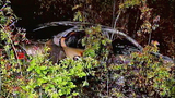 Burning car runs off road after driver jumps… - (10/10)