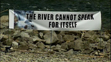 Sign next to the Skykomish River_3534424