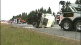 Flipped semi truck halts traffic in Snohomish… - (16/16)