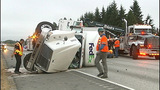 Flipped semi truck halts traffic in Snohomish… - (13/16)