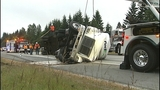 Flipped semi truck halts traffic in Snohomish… - (15/16)