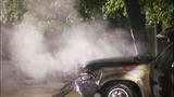 SUV crashes, bursts into flames - photos - (10/11)