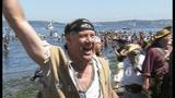 Seafair Pirates land at Alki Beach - (1/10)