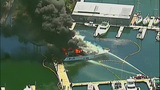 Luxury yacht engulfed in flames at Roche… - (20/20)