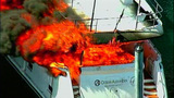 Luxury yacht engulfed in flames at Roche… - (7/20)
