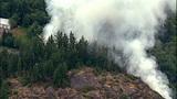 PHOTOS: Big Rock fire burns near Mount Vernon - (10/19)