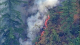 Chopper 7 over Big Rock fire near Mount Vernon_3653044