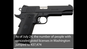 As of July 24, that number of people with concealed pistol licenses in Washington jumped to 437,474. (Photo courtesy of Wikipedia Commons)