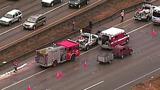 PHOTOS: Scene of collision on SB I-5 - (11/19)