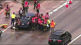 PHOTOS: Scene of collision on SB I-5 - (2/19)