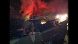 PHOTOS: I-90 closed by fiery crash of 3 semi trucks - (8/20)