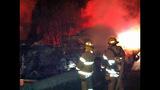 PHOTOS: I-90 closed by fiery crash of 3 semi trucks - (10/20)