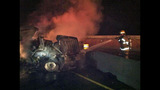 PHOTOS: I-90 closed by fiery crash of 3 semi trucks - (17/20)