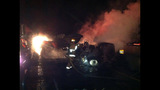 PHOTOS: I-90 closed by fiery crash of 3 semi trucks - (19/20)