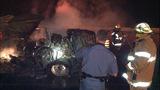 PHOTOS: I-90 closed by fiery crash of 3 semi trucks - (3/20)
