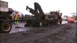 PHOTOS: I-90 closed by fiery crash of 3 semi trucks - (7/20)