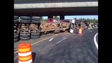 PHOTOS: Logging truck tips over on I-405 near… - (5/10)