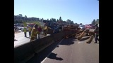 PHOTOS: Logging truck tips over on I-405 near… - (3/10)