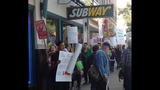 PHOTOS: Protestors picket for fired Subway employee - (3/5)