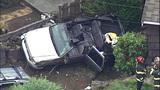 PHOTOS: Woman, grandson OK after wild crash - (7/9)