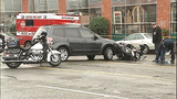 PHOTOS: Motorcycle officer goes down in crash… - (10/16)