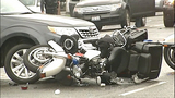PHOTOS: Motorcycle officer goes down in crash… - (9/16)