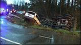 PHOTOS: Runaway dump truck hits van, overturns - (14/15)