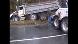 PHOTOS: Runaway dump truck hits van, overturns - (12/15)