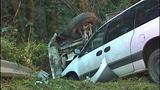 PHOTOS: Runaway dump truck hits van, overturns - (8/15)